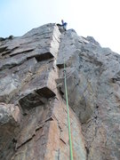 Rock Climbing Photo: Just clipped the anchors of the route on Aug. 12, ...