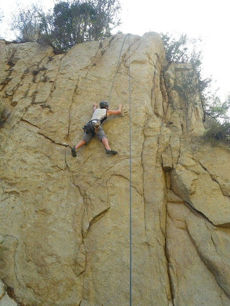 Rock Climbing Photo: at the crux