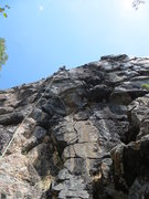 Rock Climbing Photo: At the anchors on 'West of Africa' - Aug. 12, 2012...