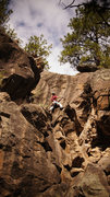 Rock Climbing Photo: Josh Cross getting ready for the last technical mo...