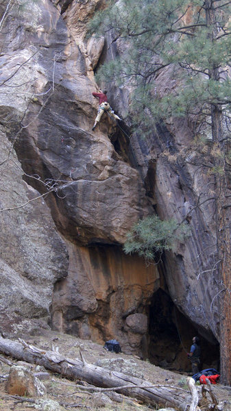 Rock Climbing Photo: A FA I wont soon forget, Eric & Darren getting it ...