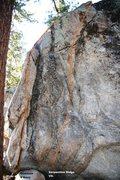 Rock Climbing Photo: Serpentine Ridge Topo