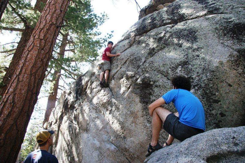 Rock Climbing Photo: Contemplation near the top.
