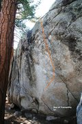 Rock Climbing Photo: Sea of Tranquility Topo