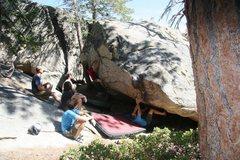 Rock Climbing Photo: Tim moving onto the Patina