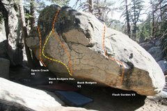 Rock Climbing Photo: Buck Rodgers Variation Topo