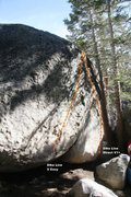 Rock Climbing Photo: Dike Line Direct Topo