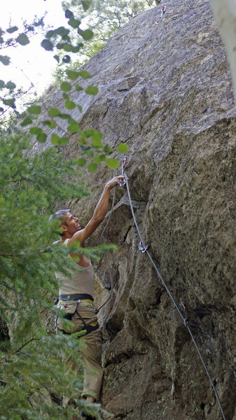 JJ Schlick setting up for the crux...