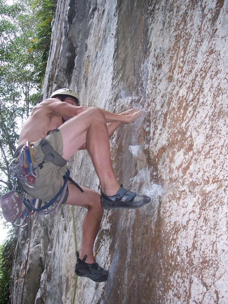"Rock Climbing Photo: Eric Coffman leading ""Djols"" 5.10d Canta..."