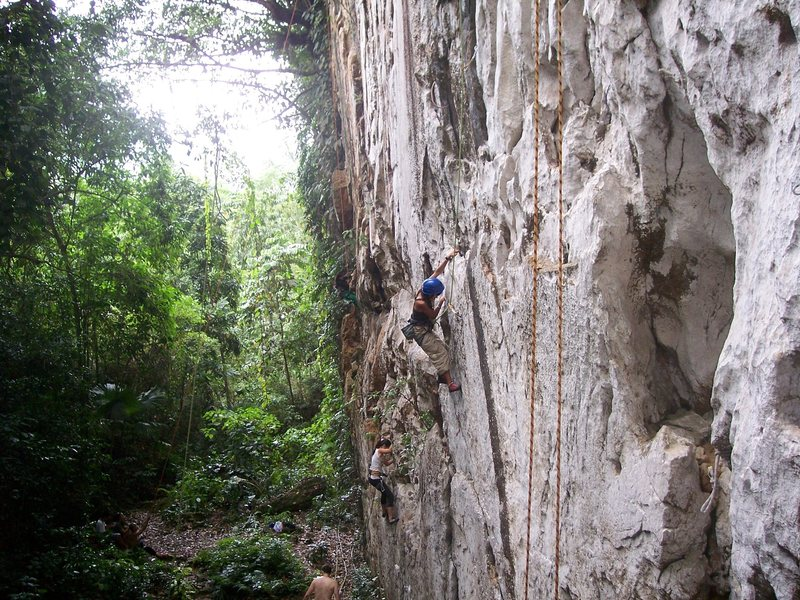 "Elna Coffman following ""Natre"" 5.11b Cantabaco"