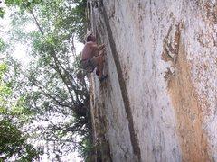"Rock Climbing Photo: Eric Coffman leading ""Natre"" 5.11b Canta..."