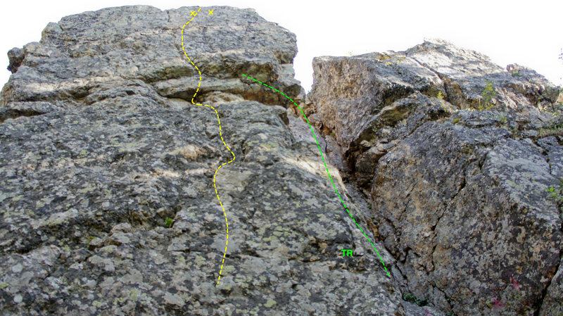 Rock Climbing Photo: This is a fun beginning toprope a little further e...