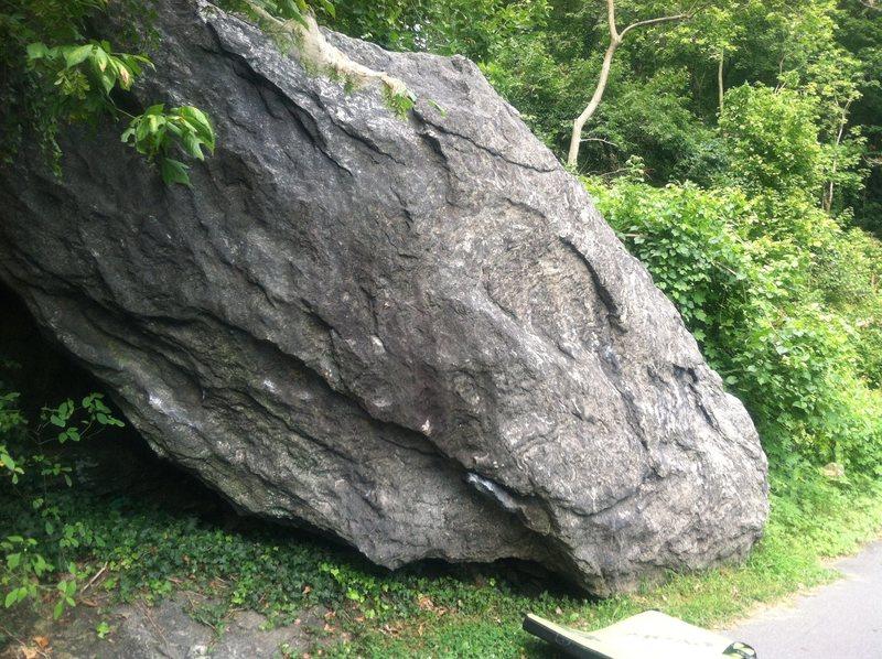 Rock Climbing Photo: Slab work Boulder