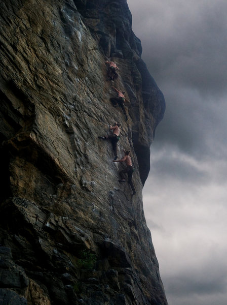 A sequence shot of free solo of Reefer Madness by Matt Lloyd.