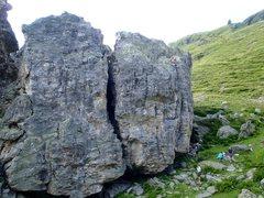 Rock Climbing Photo: Typical scene, blocks d and e