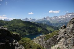 Rock Climbing Photo: View across the lake, from the top of one of the b...