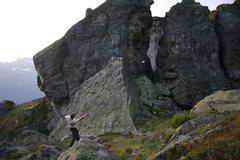 Rock Climbing Photo: Evening frisbee game through the blocks