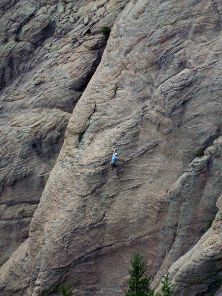 Rock Climbing Photo: Some climber from the view atop Andrology.