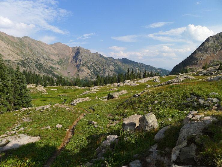 View back toward the trailhead.