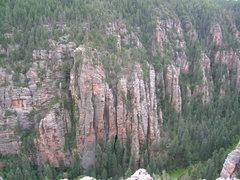 Rock Climbing Photo: Darkness Falls follow the continuous right facing ...