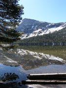 Rock Climbing Photo: reflection in lake