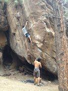 Rock Climbing Photo: Satoshi Matsudaira leads Steel Reserve on 8/12/201...
