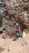 Below Super Arete at El Riri