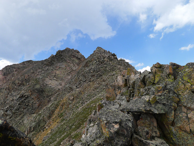 Rock Climbing Photo: West Partner false summits.