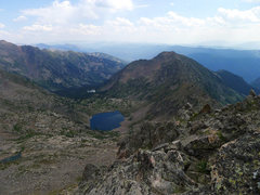 Rock Climbing Photo: Starting down the ridge to south for the descent t...