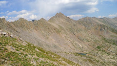 Rock Climbing Photo: Looking back to East Partner from the descent slop...