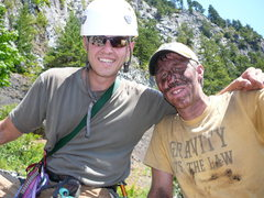 Rock Climbing Photo: Adam Winslow and Ujahn Davisson after a day of cle...