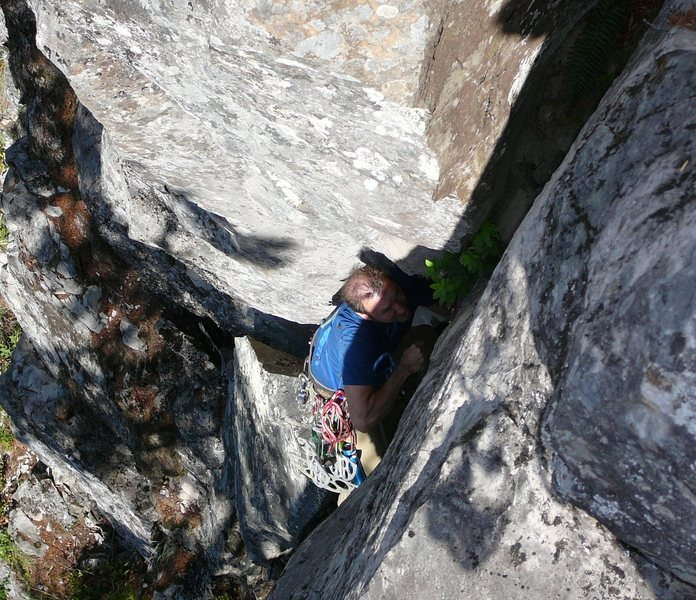 Rock Climbing Photo: Bill Coe GFA of Bride of Wyde. Kyle Silverman phot...
