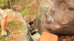Rock Climbing Photo: Nathan at the start