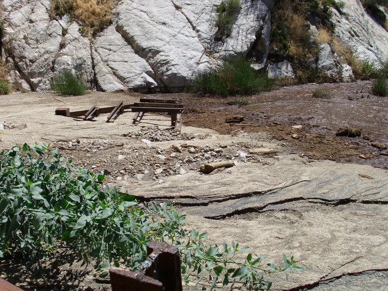 Rock Climbing Photo: lower falls area as of 8/12/2012