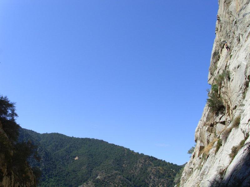 Rock Climbing Photo: myself on lead, Sam on belay