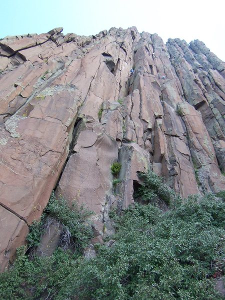 Rock Climbing Photo: This shows the 2 routes Manky posted, the 5.9 on t...