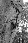 Rock Climbing Photo: Chloe catching a kneebar after the 1st hard sectio...