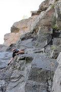 Rock Climbing Photo: chloe with lots of rock...