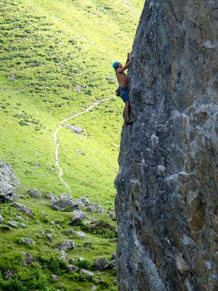 Rock Climbing Photo: Dani cruising up.