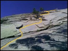 Rock Climbing Photo: Pitch 1 of Left Eyebrow as described here. Older t...
