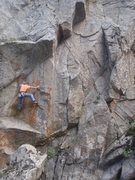Rock Climbing Photo: Mix following the route, the handrail can be seen ...