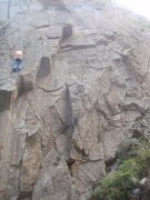 Rock Climbing Photo: The upper cracks.