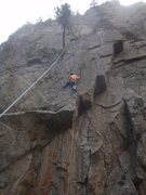 Rock Climbing Photo: The upper crack section.