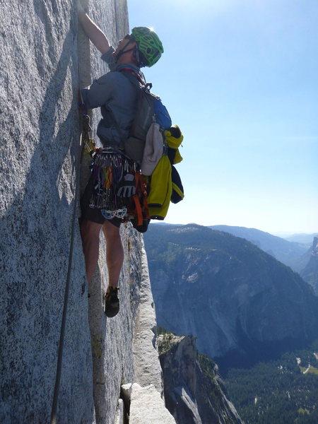 Rock Climbing Photo: Leading off