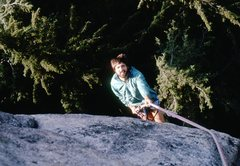 Rock Climbing Photo: The Late Cool Doc Bane rapping off the north side ...