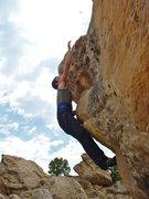 Rock Climbing Photo: Reaching high.