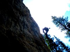Rock Climbing Photo: I felt it was a solid set of moves between the 4th...