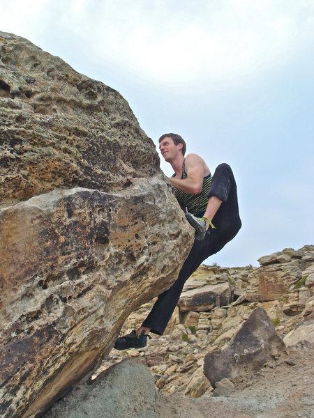 Rock Climbing Photo: The topout move is kinda fun.