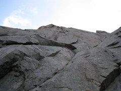 Rock Climbing Photo: Looking up from Storhylla Ledge