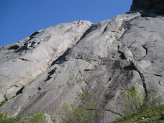 "Rock Climbing Photo: Climbers on ""blueberry"""